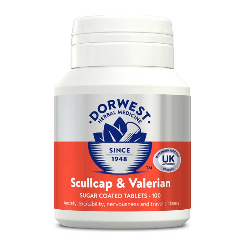 Dorwest Scullcap & Valerian Tablets For Dogs